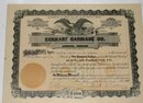 ECKHART CARRIAGE CO. - STOCK CERTIFICATE