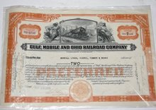 GULF, MOBILE AND OHIO RAILROAD COMPANY - STOCK CERTIFICATE