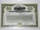 WESTERN MARYLAND RAILWAY COMPANY - STOCK CERTIFICATE