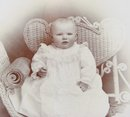 Baby on a Wicker Chair - CABINET CARD
