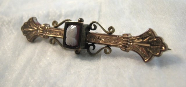 Victorian Cameo Bar Pin