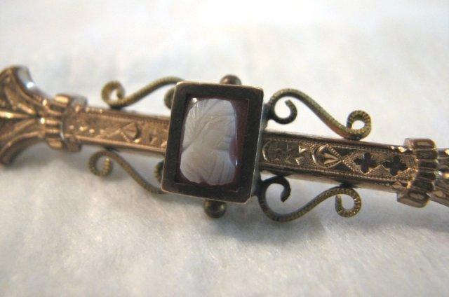 Victorian Cameo Bar Pin