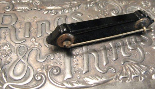 Elegant Victorian Mourning Bar Pin