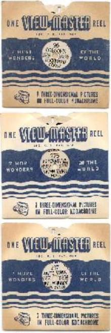 THREE HAND LETTERED VIEWMASTERS REELS - OREGON & MORE