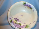 E-OH NIPPON JAPAN 6 PIECE BERRY BOWL SET PURPLE VIOLETS  RARE