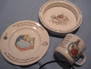 WEDGWOOD BEATRIX POTTER PETER RABBIT THREE (3) PIECE CHILD