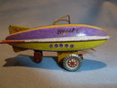 VINTAGE GERMAN ZZ TIN LITHO  ZEPPELIN ORNAMENT
