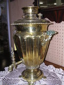 BEAUTIFUL  RUSSIAN WINE GLASS SAMOVAR