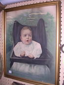 EARLY BABY PORTRAIT FRAMED ORIGINAL GLASS