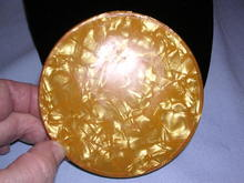 BAKELITE BUTTERSCOTCH COLOR TRAVEL MIRROR