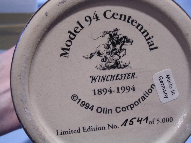 WINCHESTER MODEL 94 ANNIVERSARY LIDDED STEIN BY GERZ ORIG BOX