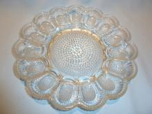 VINTAGE INDIANA GLASS HOBNAIL OR DEW DROP EGG PLATE 11