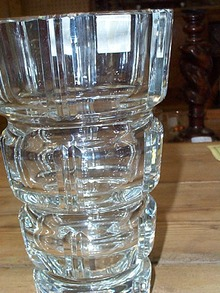 Czech Lead Crystal Small Square Cut Vase