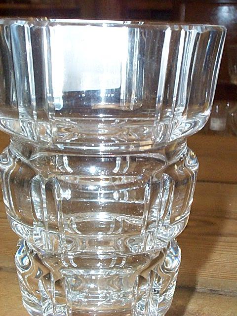 Vintage Lead Crystal Square Cut Vase, Czech