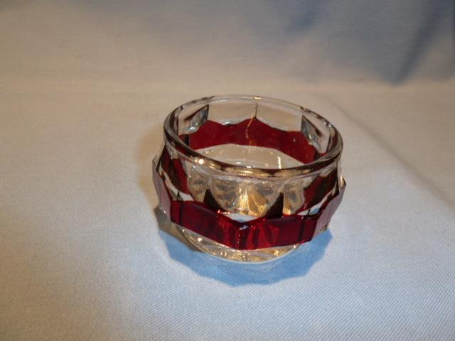 NEW MARTINSVILLE RED FLASH GLASS MASTER OPEN SALT 1915