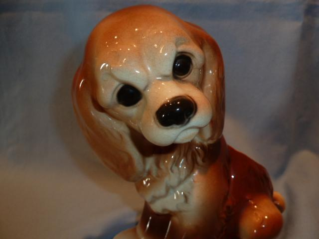 ROYAL COPLEY SITTING SPANIEL PLANTER