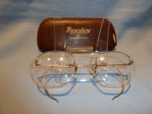 VINTAGE 12K GOLD FILLED BIFOCAL WIRE RIM GLASSES IN ORIG CASE