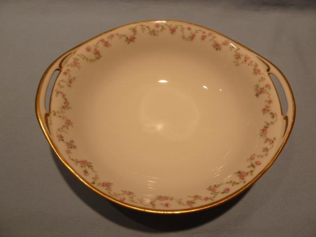 HAVILAND CHINA ROSE OPEN HANDLE VEGETABLE BOWL