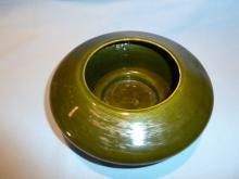 FREEMAN & MCFARLIN CALIFORNIA POTTERY GREEN  DECO PLANTER