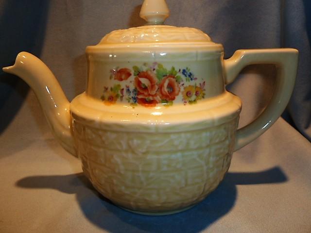 HALL CHINA FOR ENTERPRISE ALUMINUM DRIP-O-LATOR POTTERY TEA COFFEE POT