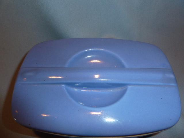 Hall China  Delphinium Blue Refrigerator Left Over Covered Dish Montgomery Ward
