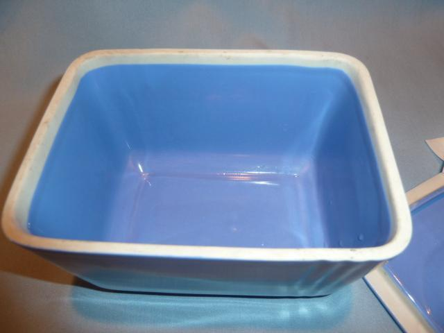 Hall China  Delphinium Blue Phoenix Refrigerator Left Over Covered Dish Westinghouse