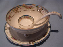 NIPPON THREE PIECE MAYO SET, DISH, UNDERPLATE AND SPOON