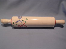 VINTAGE  HARKER CALICO TULIP ROLLING PIN