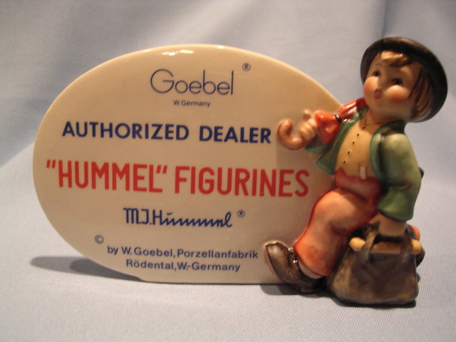 GOEBEL AUTHORIZED RETAILER PLAQUE SIGN