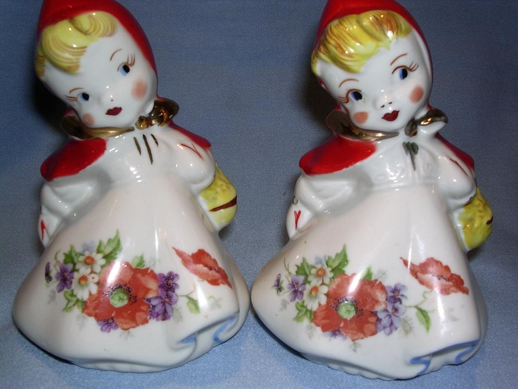 HULL LITTLE RED RIDING HOOD 5 1/2 INCH SALT AND PEPPER SET
