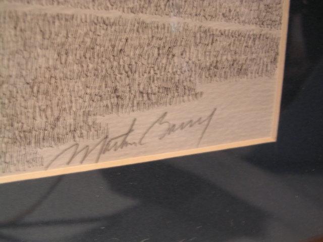 FRAMED SIGNED MARTIN BARRY