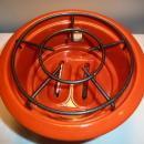 Antique Dutch ORIGINAL HALLER RED Enamelware stove kerosene fuel 1 burner