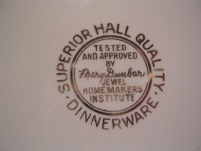 HALL  JEWEL TEA AUTUMN LEAF 10 1/8