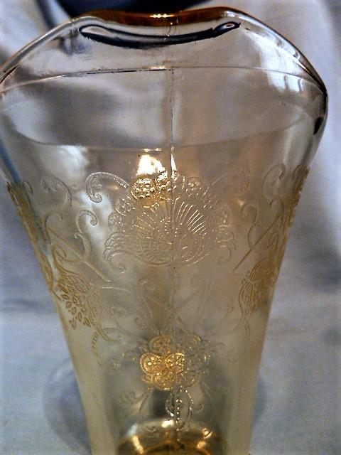 YELLOW Depression Glass FLORENTINE POPPY #2 PITCHER