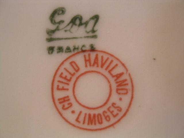 HAVILAND LIMOGES FRANCE ROSE ROSEBUD HAIR RECEIVER