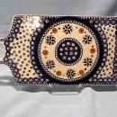 VINTAGE POLISH POTTERY BREAD/ CUTTING BOARD IN NATURE PATTERN
