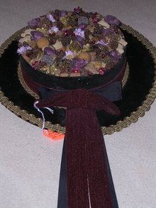BAVARIAN HAT WALL HANGING VELVET and FLORAL