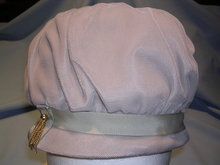 VINTAGE BEIGE VELVET LADIES HAT WITH  TASSEL