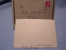 1944 BLACK BORDER SYMPATHY CARD WITH HITLER STAMP