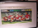 ANIMATION CELL 1966 WORLD CHAMPIONS LOONEY TUNES FRAMED LITHOGRAPH ON PAPER