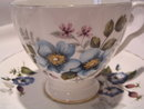 ROYAL GRAFTON BONE CHINA ATTACHED TEA CUP & SAUCER BLUE FLORAL