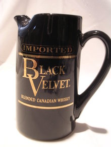 BLACK VELVET CANADIAN WHISKEY WATER PITCHER