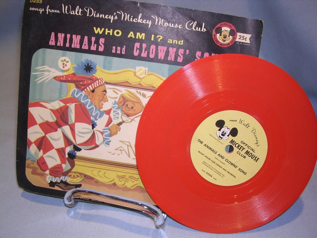 WALT DISNEY'S MICKEY MOUSE CLUB ANIMALS & CLOWN'S SONG   78RPM