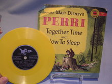 WALT DISNEY'S  PERRI  TOGETHER TIME & NOW TO SLEEP  78RPM GOLDEN RECORD W/ SLEEVE