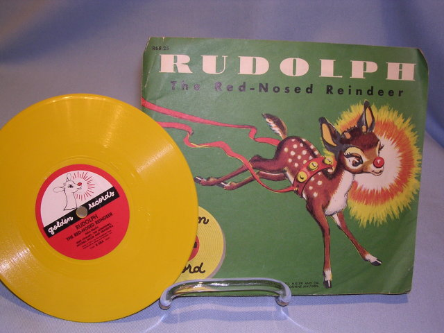 RUDOLPH THE RED NOSED REINDEER 78RPM GOLDEN RECORD WITH SLEEVE 1950 NO;R68:25