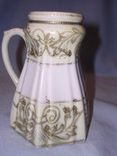 NIPPON SUGAR SHAKER MUFFINEER GOLD ON WHITE & YELLOW ORNATE