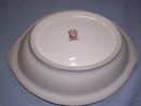 NORITAKE LUSTER  RED WHITE BLUE FLORAL  OVAL DISH  #27 RED MARK