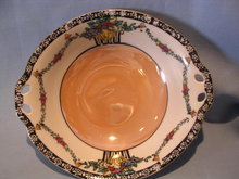 NORITAKE FLORAL FRUIT LUSTERWARE HANDLED BOWL