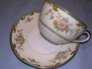 NORITAKE CLINTONIA RED MARK  CUP & SAUCER
