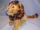 STEIFF LEO LION SITTING TOY ANIMAL WITH BUTTON